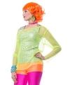 Neon oranje short voor dames
