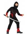 Ninja verkleedkostuumvoor jongens