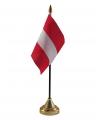 Oostenrijk vlaggetje met standaard