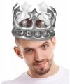 Koning voor een dag kroon zilver