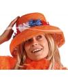 Koningsdag Oranje hoed met bloemen