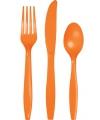 Bestek in het oranje 24 delig