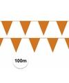 Prijsvoordeel vlaggenlijnen oranje 100 meter