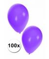 Zak paarse ballonnen 100 stuks