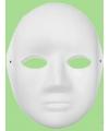 Papieren masker vrouwen gezicht