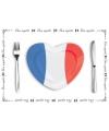 Franse placemats van papier setje