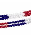 Blauw rood wit decoratie slinger