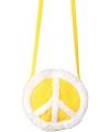 Sixties peace tasje geel
