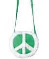 Groen hippie tasje met peace teken