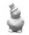 Knutsel sneeuwman piepschuim 17 cm