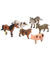 Plastic boerderijd ieren speelgoedset
