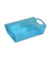 Plastic tray/schaal blauw 26 cm
