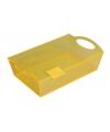 Plastic tray/schaal geel 26 cm