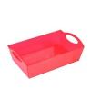 Plastic tray/schaal rood 26 cm