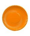 Oranje wegwerp bordjes 23 cm