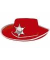 Rode cowboy hoed voor kinderen
