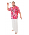 Hawaii overhemd voor heren rood