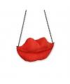 Lippen tas voor dames rood