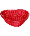 Rode rieten manden hartvormig