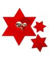 Rode ster onderzetter groot per stuk