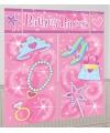 Roze verjaardag decoratie 165 x 190 cm