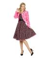 Roze nepbonten jasje voor dames