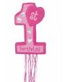 Roze pinata eerste verjaardag
