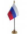 Rusland vlaggetje met standaard