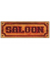 Bordje met saloon opdruk