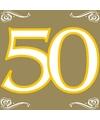 Feest servetten goud 50 jaar