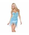 Sexy blauw zeemeermin jurkje