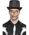 Skelet gezicht tatoeage