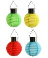 Zonne energie gekleurde tuin lampion