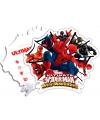 Spiderman Warriors uitnodigingen met enveloppe
