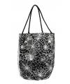 Zwarte spinnenweb handtas