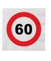 Stopbord servetjes 60 jaar 16 stuks