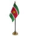 Suriname vlaggetje met standaard