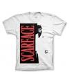 Merchandise heren shirt Scarface wit