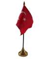 Turkije vlaggetje met standaard