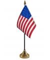 Amerikaans vlaggetje met standaard