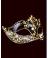 Luxueus muziek Venetiaans masker met muzieknoten zwart/wit