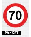 Verkeersbord  70 jaar versiering pakket