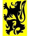 Vlaamse vlag met zwarte leeuw