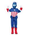 Blauwe superheld carnavalskostuum voor jongens