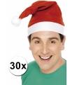 Kerstmutsen aanbieding 30 stuks