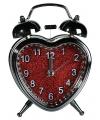Hartvormige wekker 13 cm