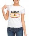 Belgie t-shirt voor dames met vlaggen print