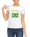 Braziliaanse vlag t-shirt voor dames