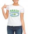 Brazilie t-shirt voor dames met vlaggen print