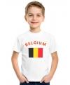 Belgische vlag t-shirts voor kinderen